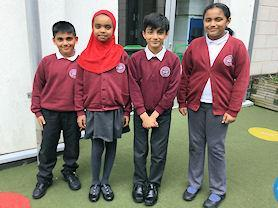 Some of our very smart children wearing their uniform