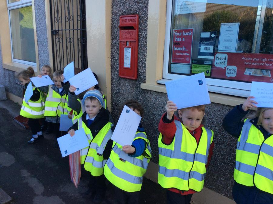 Look we have our letters ready to post