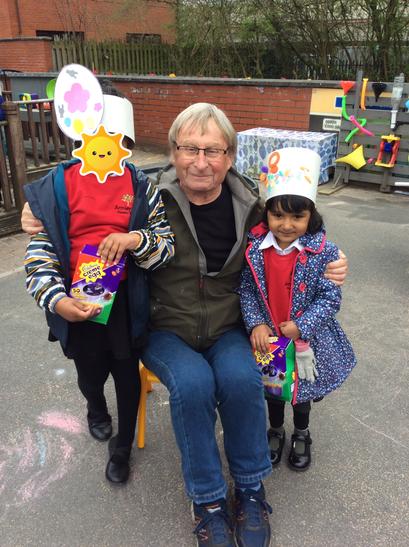 Reception's Easter Bonnet winners - Rakeb and Raima!