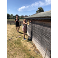 We have been busy painting the shed!