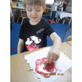 We made poppy biscuit for Remembrance Day
