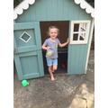 Ella has just completed her Easter egg hunt!