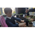 Eric has been helping his family with planting.