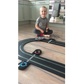 Busy counting his car laps
