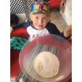 Harry busy making salt dough