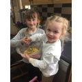 Ella and her sister Leah have been busy baking
