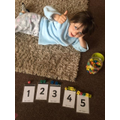Hattie has been doing some counting and ordering.