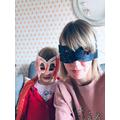 Mrs Broniewska and her daughter played PJ Masks!