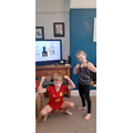 Maisie and Eddie ready for their daily workout!