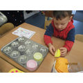 We made muffins for Nursery week