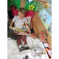We enjoyed looking at books