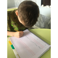 Alfie has been practicing his times tables.