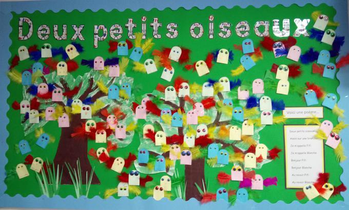 Year 3 each made 'Deux petits oiseaux'