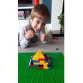 Henry's lego pyramid!