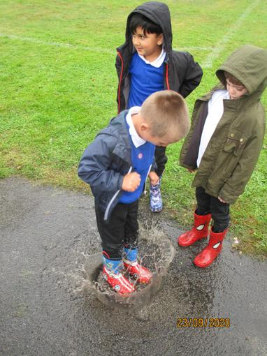 We had lots of fun on our rainy day walk.