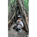Henry has made a den.
