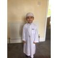 Mustafa has been taking part in Ramadan.