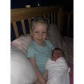 Violet has a new baby sister named Melody Rose