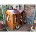 Arthur's new playhouse! I think he likes it