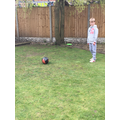 Evan's developing those fantastic football skills