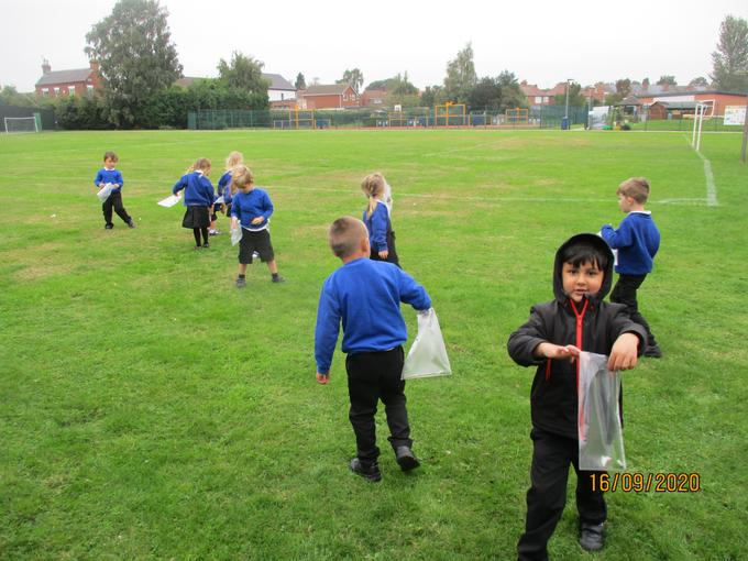 We had a walk around school to show the children the areas outside.