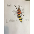 What a beautiful bee drawing by Lachlan
