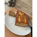 Baking yummy apple cake.