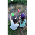 Henry and his sister pond dipping.