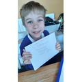 Henry's letter is ready to post!