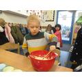 We enjoyed making muffins