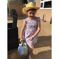 Chloe had fun on an egg hunt