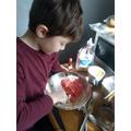 Noah baking