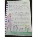 Haya has been very busy, this is her diary page.