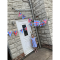 Look at Lola's flags on VE Day