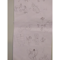 Careful drawings on Daisy's story map.