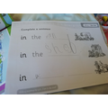 Look at Jasmine's fabulous writing.