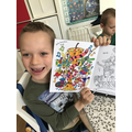 Lovely colouring Finley!