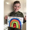 Reuben's beautiful rainbow + an important message