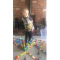 Henry built a Hogwarts castle!
