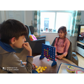 Daisy playing Connect 4