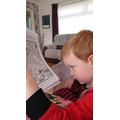 Killian enjoying his eye spy home learning