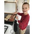 Finley making pizzas!