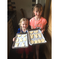 Ella and Leah doing some Easter baking