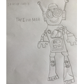 Lachlan's been reading The Iron Man-cool drawing!