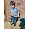 Logan planting seeds