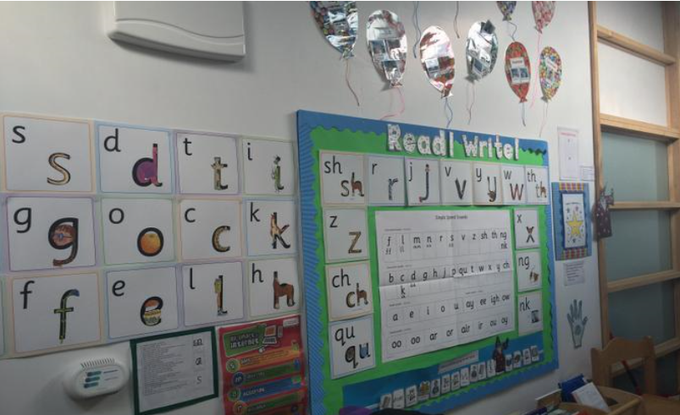 We use the Read Write Inc phonics scheme in F2 and KS1.