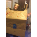 My 'Alice In Isolation' costume for Quiz Night!