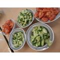 Salad (quite a lot left over!)