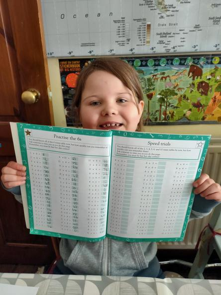 Practising times tables