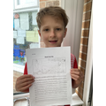 Harry did lots of research about different sharks!